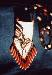 Mary Kroll: Killer Whale Tsimpshean Indian Design 3-inch Seed Bead Bag